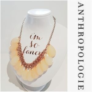 ANTHROPOLOGIE GOLD AND LUCITE MAY DROP NECKLACE